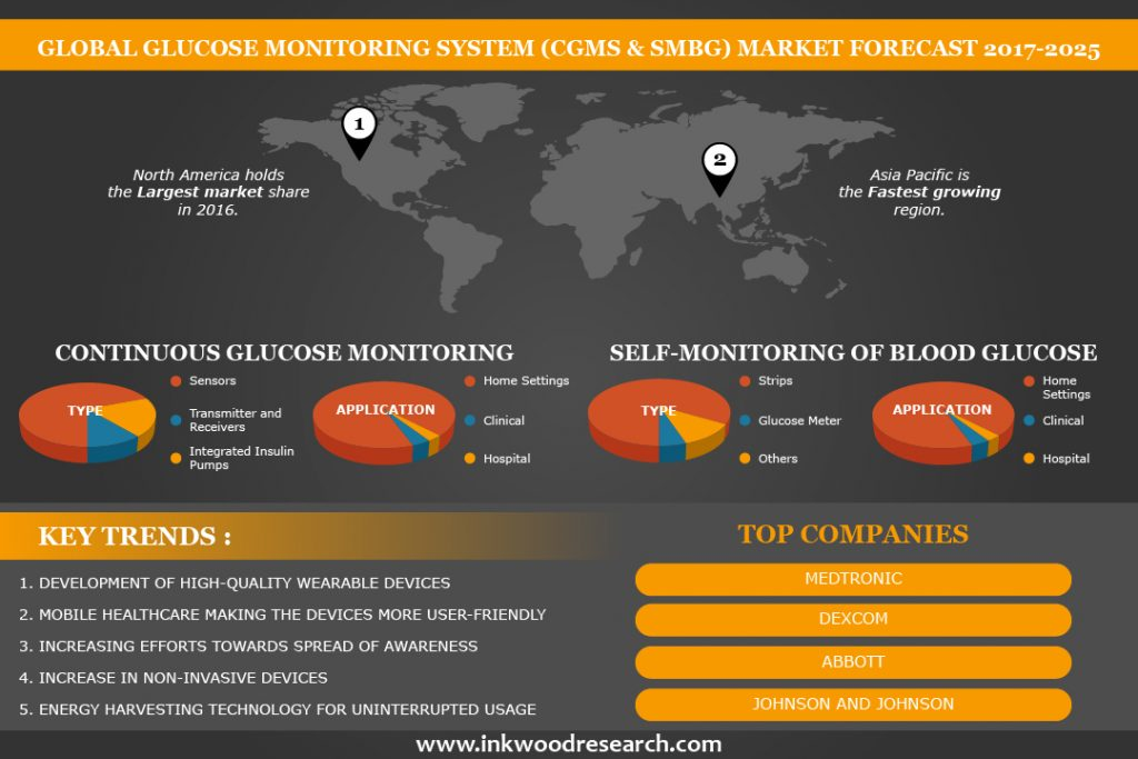 Glucose monitoring system (CGMS & SMBG ) market infographic